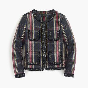 NWT J.crew Quilted Jacket in Stewart Plaid size 4